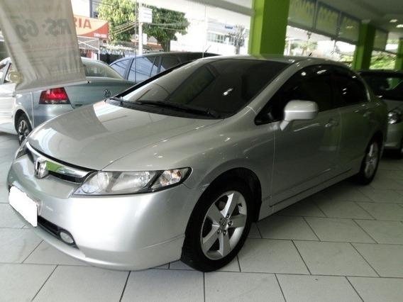 Honda Civic 1.8 Lxs 16v Gasolina 4p Manual 2007 Prata
