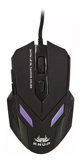 Mouse Gamer Com Fio Usb 6d Led 2400dpi Knup Kp-v20