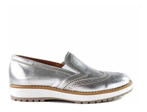 Mocasin Cuero Mujer Briganti Zapato Taco Goma Moda Mccz33065