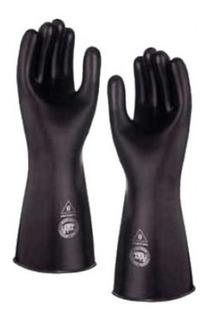 Guante Uso Producto Quimico Acido Color Negro Adex No. 8