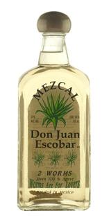 Tequila Mezcal Don Juan Escobar Botella C/2 Gusanos Mexico