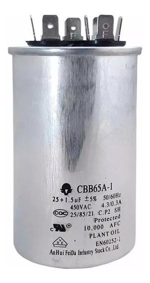 Capacitor Para Ar Condicionado Eae42718016 25+1.5uf 450vac