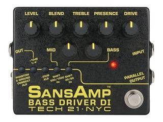 Pedal Sansamp Bass Driver V2 Preamp Para Bajo Envío Gratis