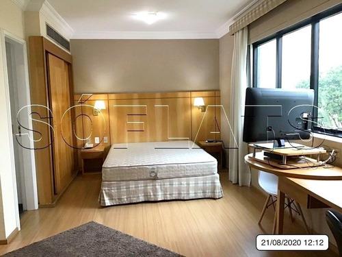 Radisson Hotel Oscar Freire -  Flat Com 32m² Totalmente Mobiliado E Com Serviços. - Sf2651