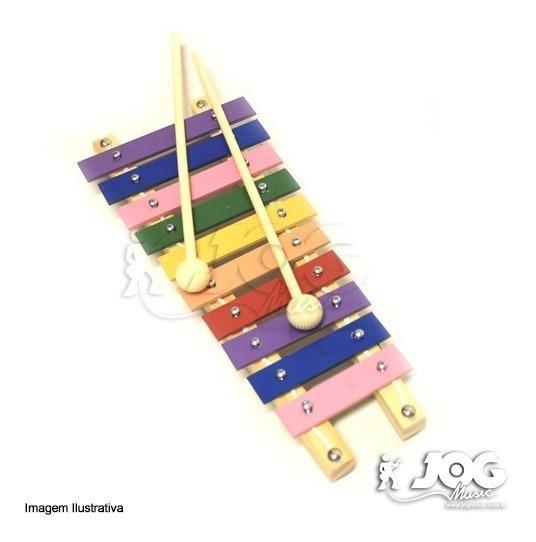 Metalofone 10 Teclas Musicalização Infantil