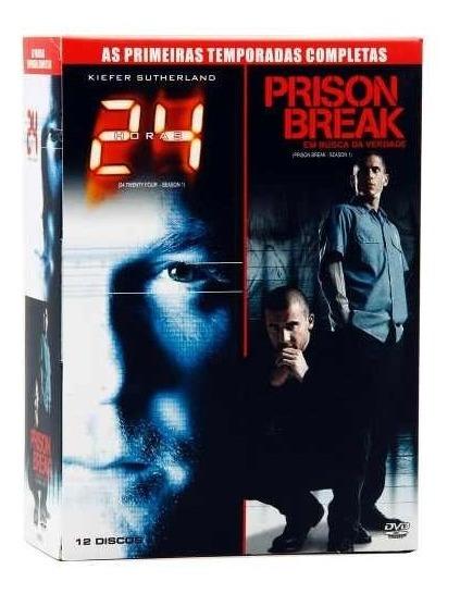 Box 2 Em 1 - 24hs + Prison Break - 1ªs Temp. Compl. Lacrado