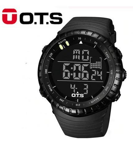 Relógio Masc Ots 7005g Esportivo Mergulho Preto Frete Grátis