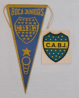 Boca Juniors - Antiguos Banderin Y Calco Futbol Retro Fs