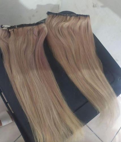 Imagem 1 de 2 de Mega Hair No Tic Tac 45 Cemtimetros 100 Gramas Cabelo Huma