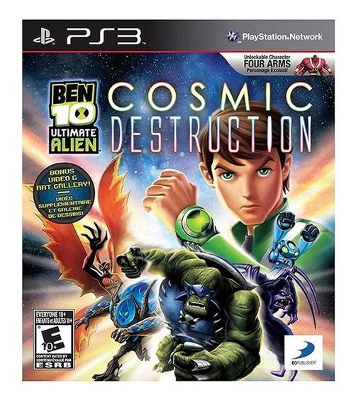 Jogo Ben 10 Ultimate Alien Cosmic Destruction Ps3 M. Fisica