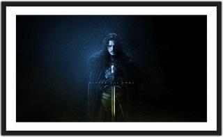 Quadro Decorativo The Game Of Thrones Jon Snow Com Espada