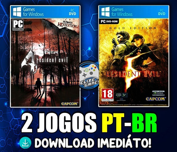 Kit Re4 Hd Edition + Re5 Gold Edition Midia Digital!