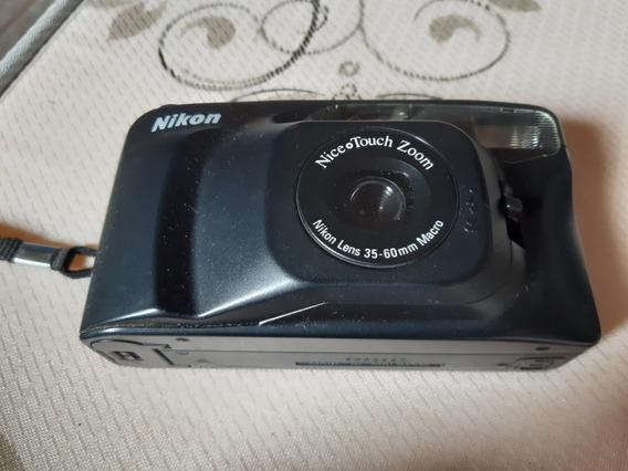 Maquina Nikon, Antiga Com Zoom Elétrico, Automática.