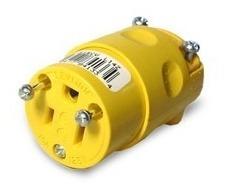 Conector Aereo Plano + Tierra 2x15 A 125 V 5-15 Pvc Levinton