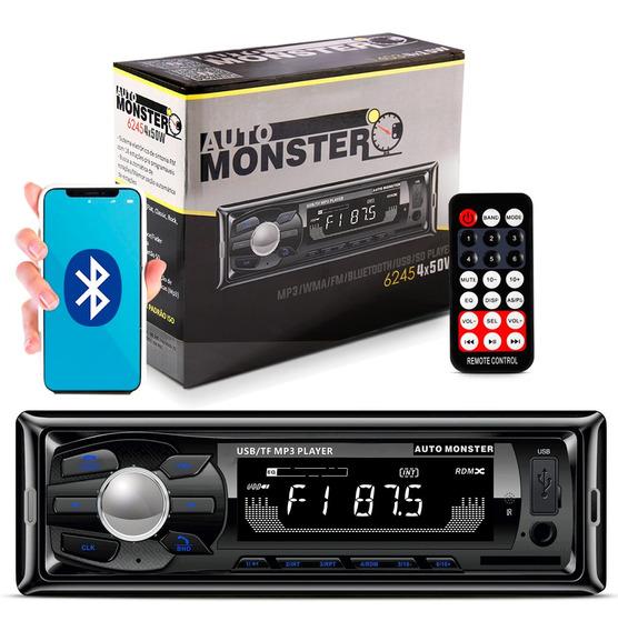 Mp3 Player 1 Din Auto Radio Fm Wma Bluetooth Usb Sd Auxiliar