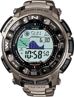 Casio Pro Trek Prw2500t-7 Solar Titanio 3 Sensores Reloj Hom