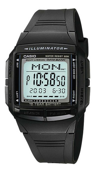 Relógio Casio Masculino Data Bank Db-36-1avdf.