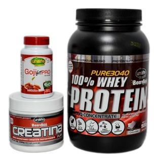 Kit Whey Protein+ Creatina+ Gojifitpro- Frete Grátis + Nf