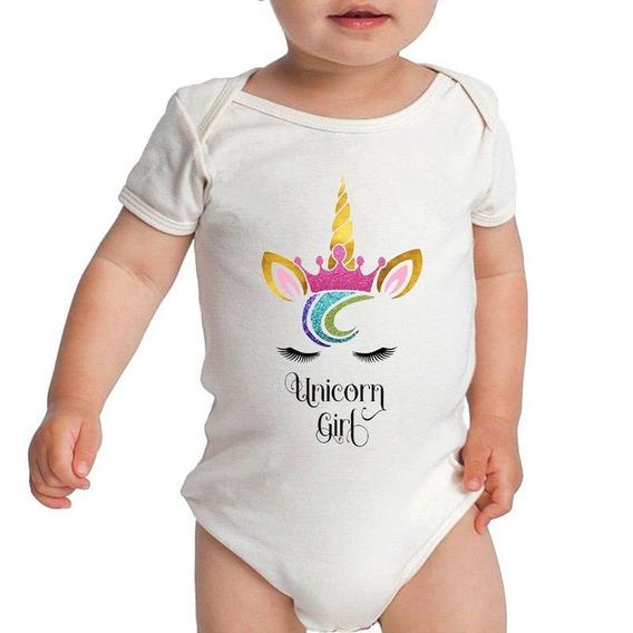 Body Bebê Unicorns Girl Roupa Infantil Menina Bodies Branco