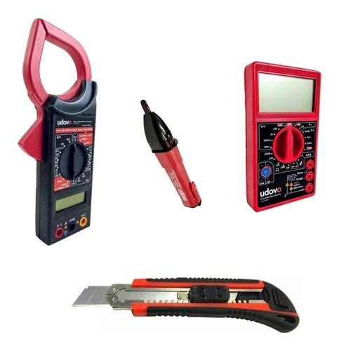 Combo Tester Digital Pinza Amperimetrica Detector Volt Cuter