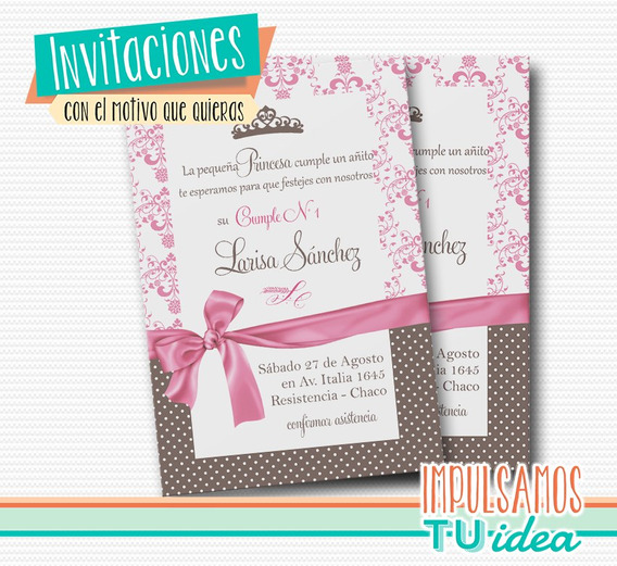 Tarjetas Invitacion Princesa Sofia Souvenirs Para