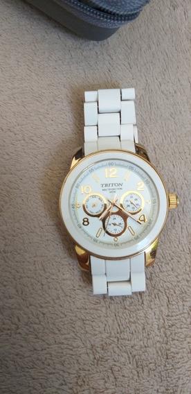 Relógio Branco Mondaine Triton