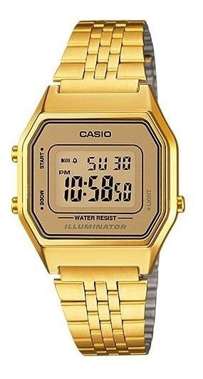 Relógio Casio Vintage Original Com Caixa Dourado