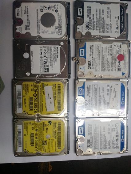 Lote Hd Notebook Com Defeito 8 Pecas 5 Wd,1 Toshiba,2samsung