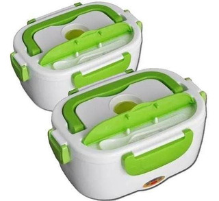 Lonchera Electrica Kit 2 Lunch Box Termica Paquete