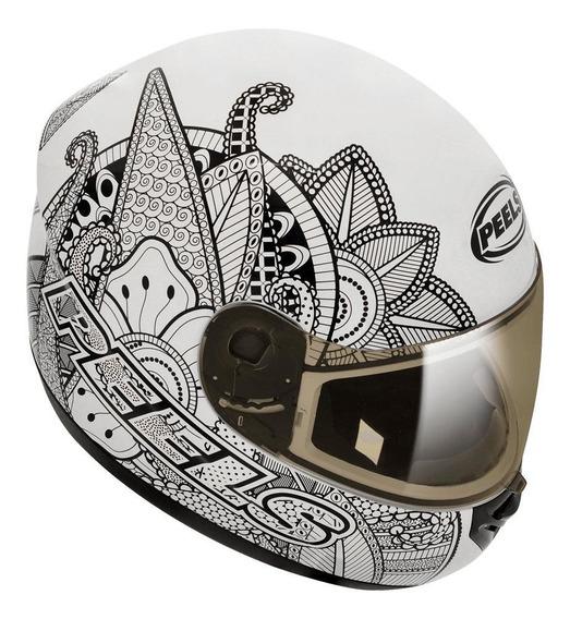 Capacete para moto integral Peels Spike Indie branco/preto M