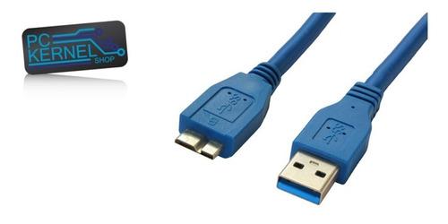 Imagen 1 de 1 de Cable Usb 3.0 Micro Usb Tipo B A Usb Macho Blindado Premiun