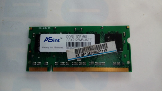 Memoria Notebook 1gb Ddr2 667- 1rx8 Asint 050