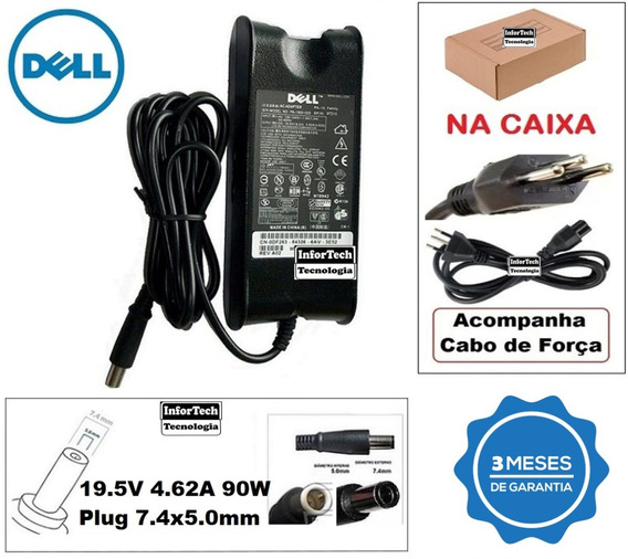 Fonte Para Notebook Dell 19.5v 4.62a 90w Novo!