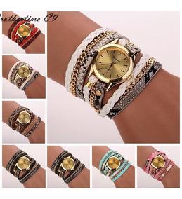 Relógio De Pulso Feminino Bracelete Luxo Com Caixa