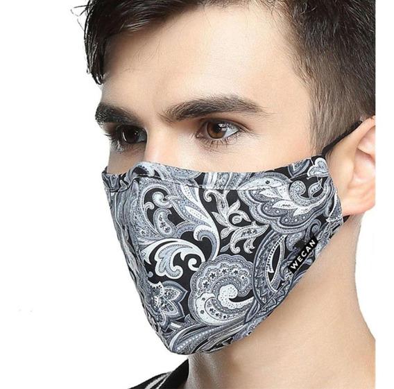 Máscara De Pano Lavavel Dupla Camada Uniforme 20 Unidades