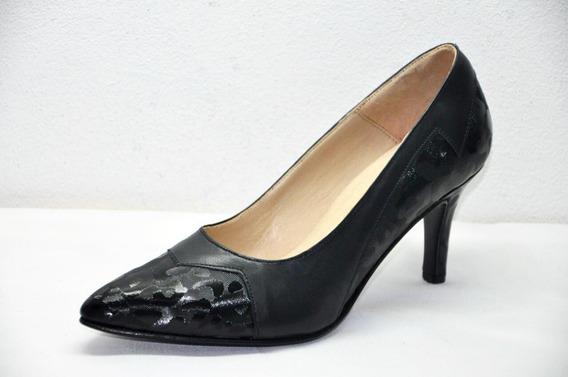 Zapato Mujer Stiletto Elegante 100% Cuero Vacuno Zap Risso