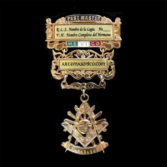 Medalla Past Master. Masonica | Artemasonico.com