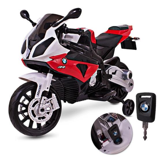 Moto Elétrica Infantil Bmw Esportiva Vermelho E Preto 12v