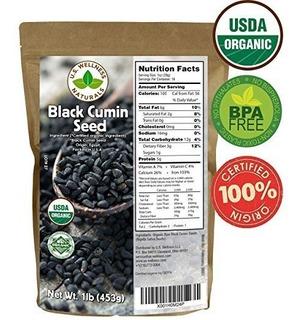 Semilla De Comino Negro Nigella Sativa Usda Orgánica 16 Oz