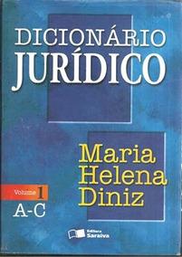 Livro Dicionário Jurídico Volume 1