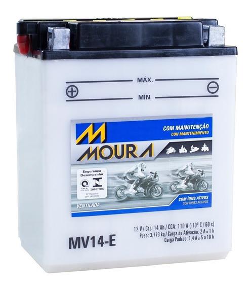 Bateria Moto Mv14-e Moura 14ah Triumph Tiger Xc Yamaha Yfm