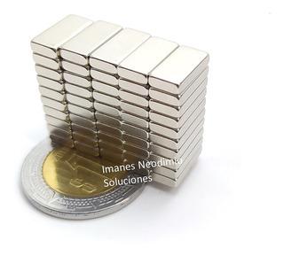 50 Imanes Neodimio 10mm X 5mm X 2mm Rectangular Potente Xto