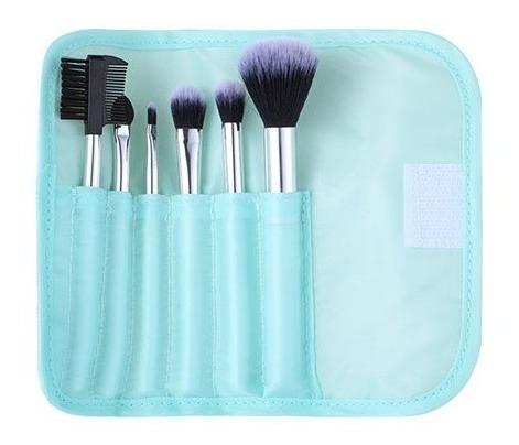 Estojo Com Kit Pincéis De Maquiagem Miniso - Cor Verde