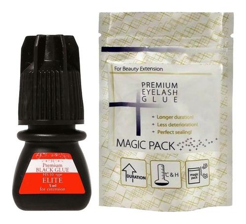 Cola Para Alongamento De Cilios Elite Glue Premium Black 3ml