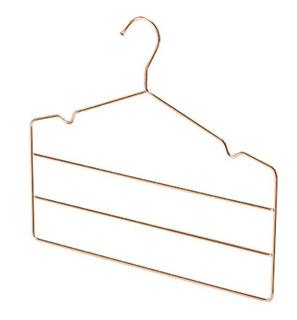 Cabide Para Calças Triplo Cobre Rose Gold Reforçado + Brinde