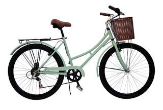 Bicicleta Vintage Retro Con Cambios R26 Reflectores Regalo