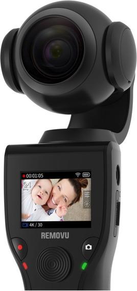 Câmera 4k Com Estabilizador Gimbal Removu K1 Com Display Não Requer Celular - Usada