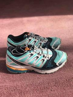 Zapatillas Salomon Mujer Casi Nuevas, Talle 6.5 Usa/38 Eur