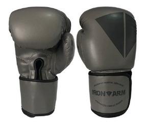 Luva De Boxe Ironarm Premium 12 Oz Dark Iron, Dark Grey