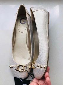Zapatos Flats Guess Dorados Original Y Nuevos Talla 4.5